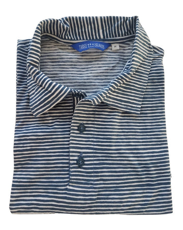 Montauk Polo in Navy Stripes