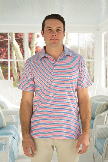 Montauk Polo in Peppermint Stripes