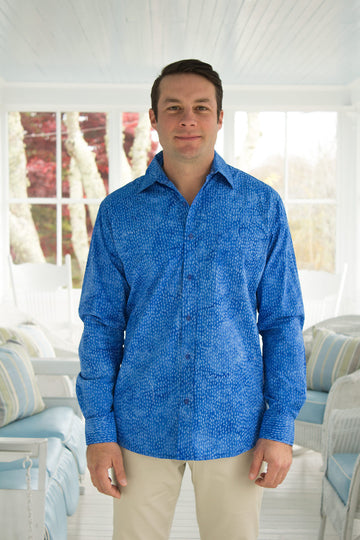 Ninigret Button Down in Royal Dots