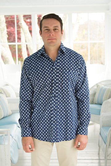 Ninigret Button Down in Midnight Eyes