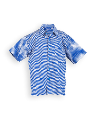 Sandy Point Camp Shirt in Denim Painted Stripes