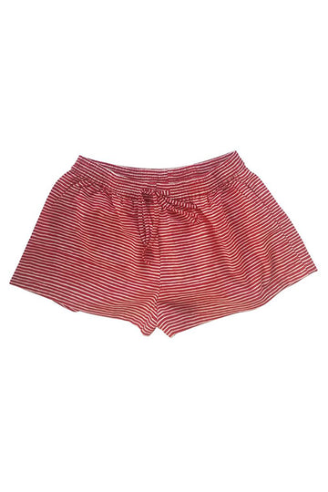 Sophie Sleep Shorts in Santa Stripes