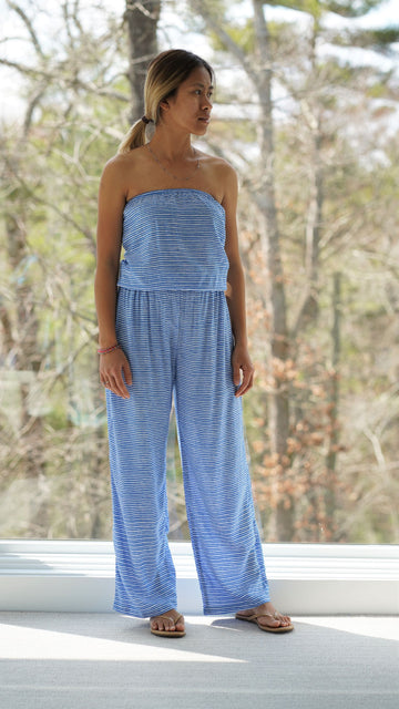 Tobin Jumpsuit in Ocean Stripes