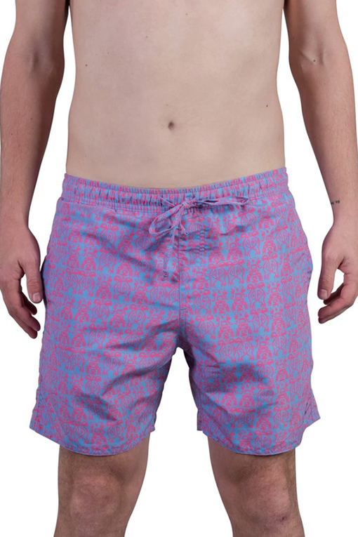 Padang Padang Swim Shorts in Bonfire Tiki Trouble
