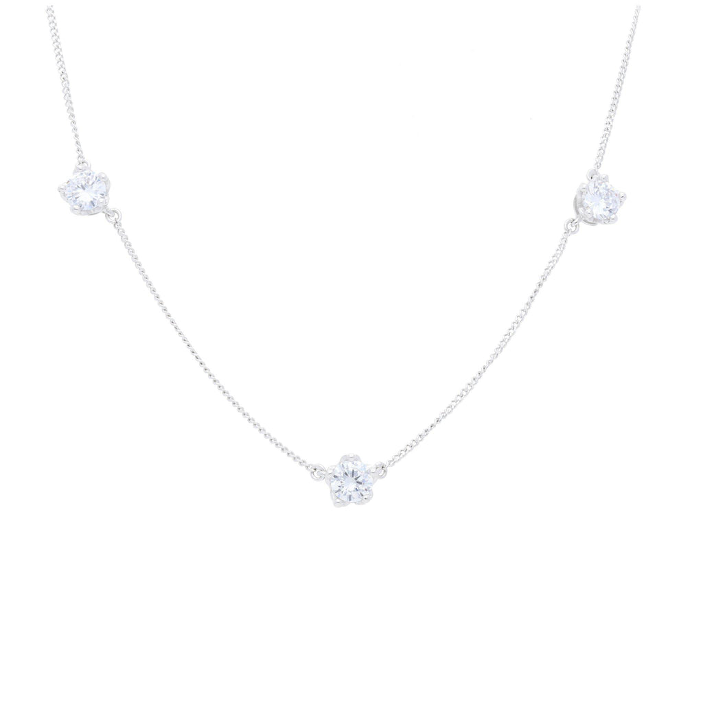 Queens Crown Necklace with Clear CZ - Elias Serhan