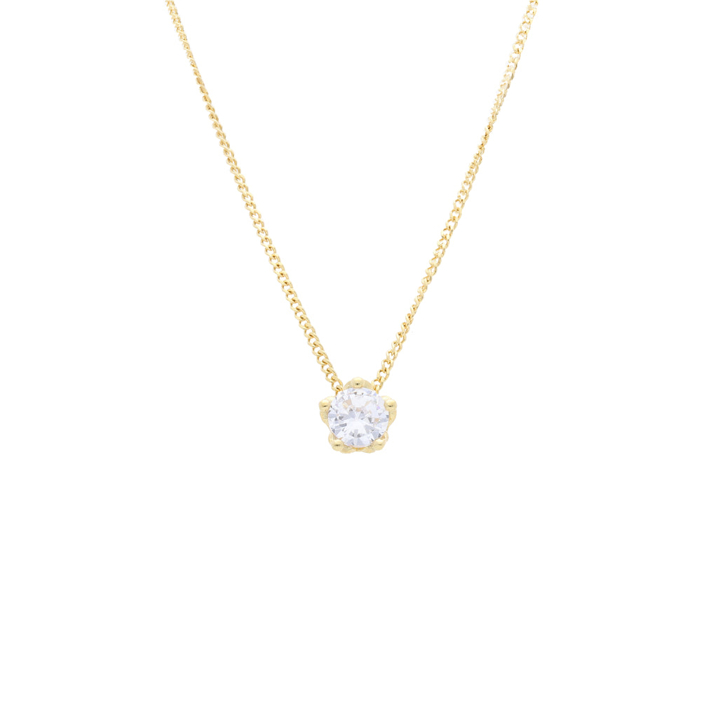 Queens Crown Pendant with Clear CZ - Elias Serhan