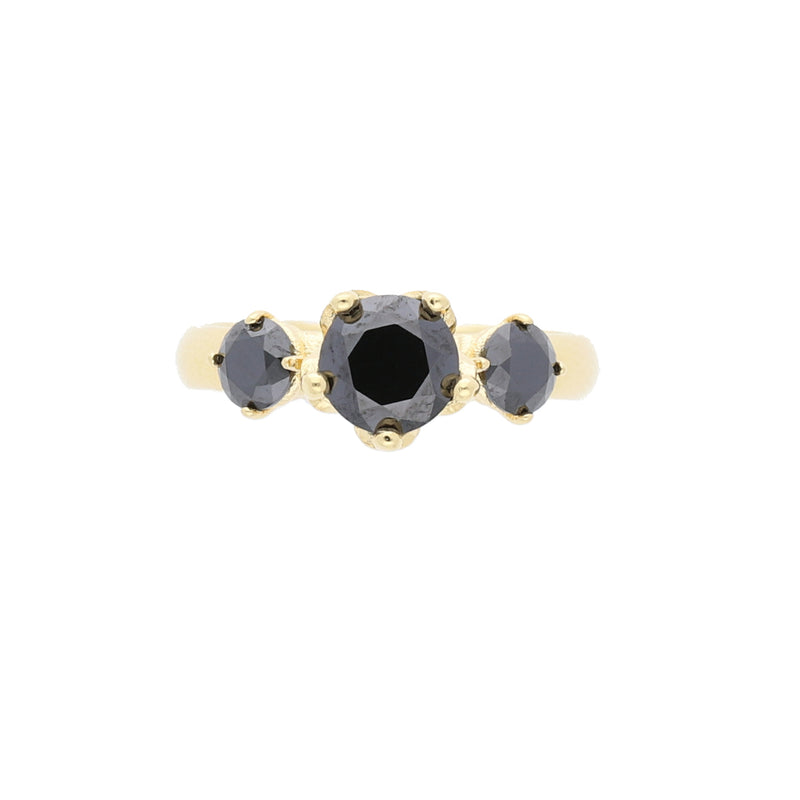 Queens Crown Ring with Black CZ - Elias Serhan