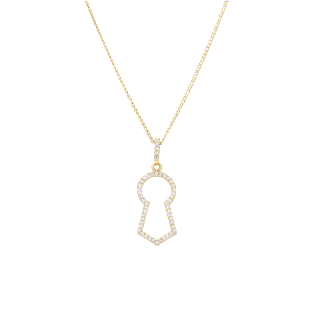 Keyhole Pave Pendant with Clear CZ - Elias Serhan