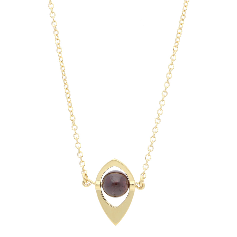 Core Long Pendant Red Garnet - Elias Serhan