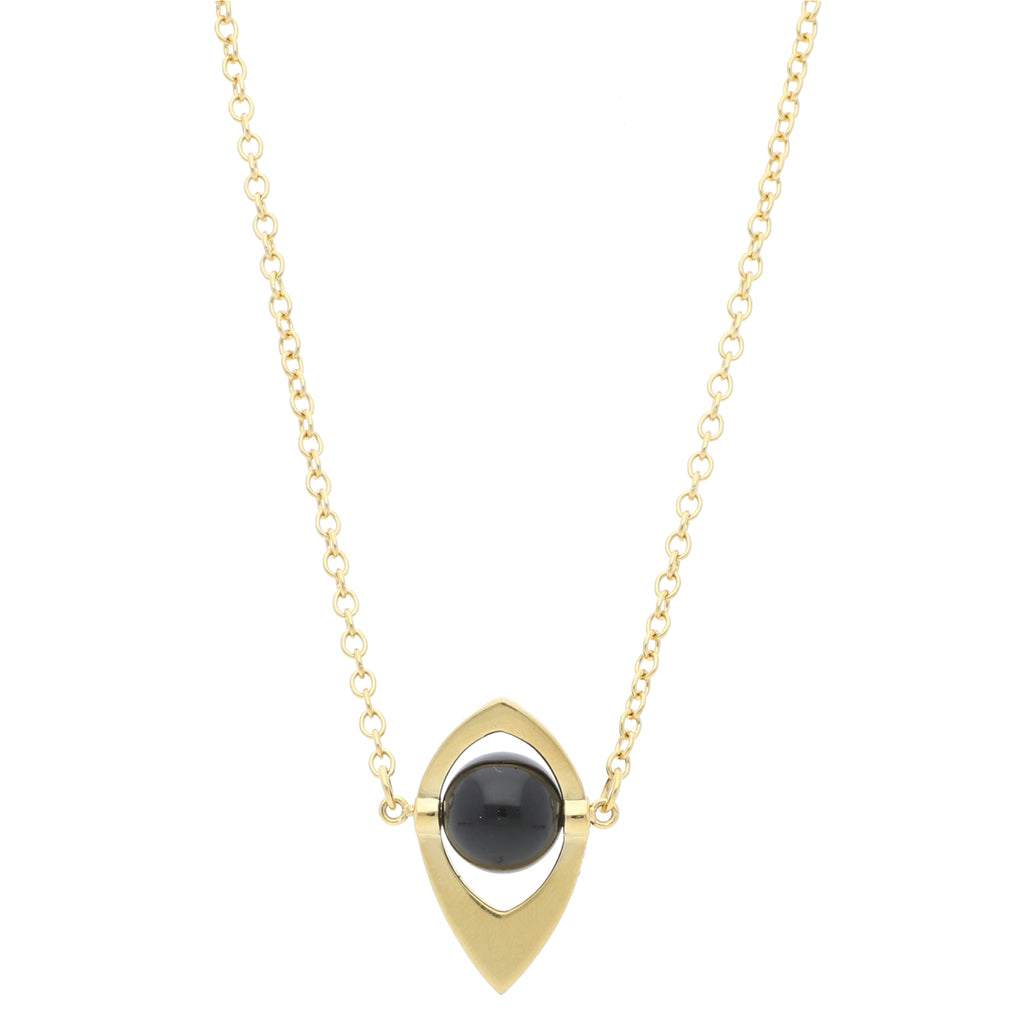Core Long Pendant Onyx - Elias Serhan