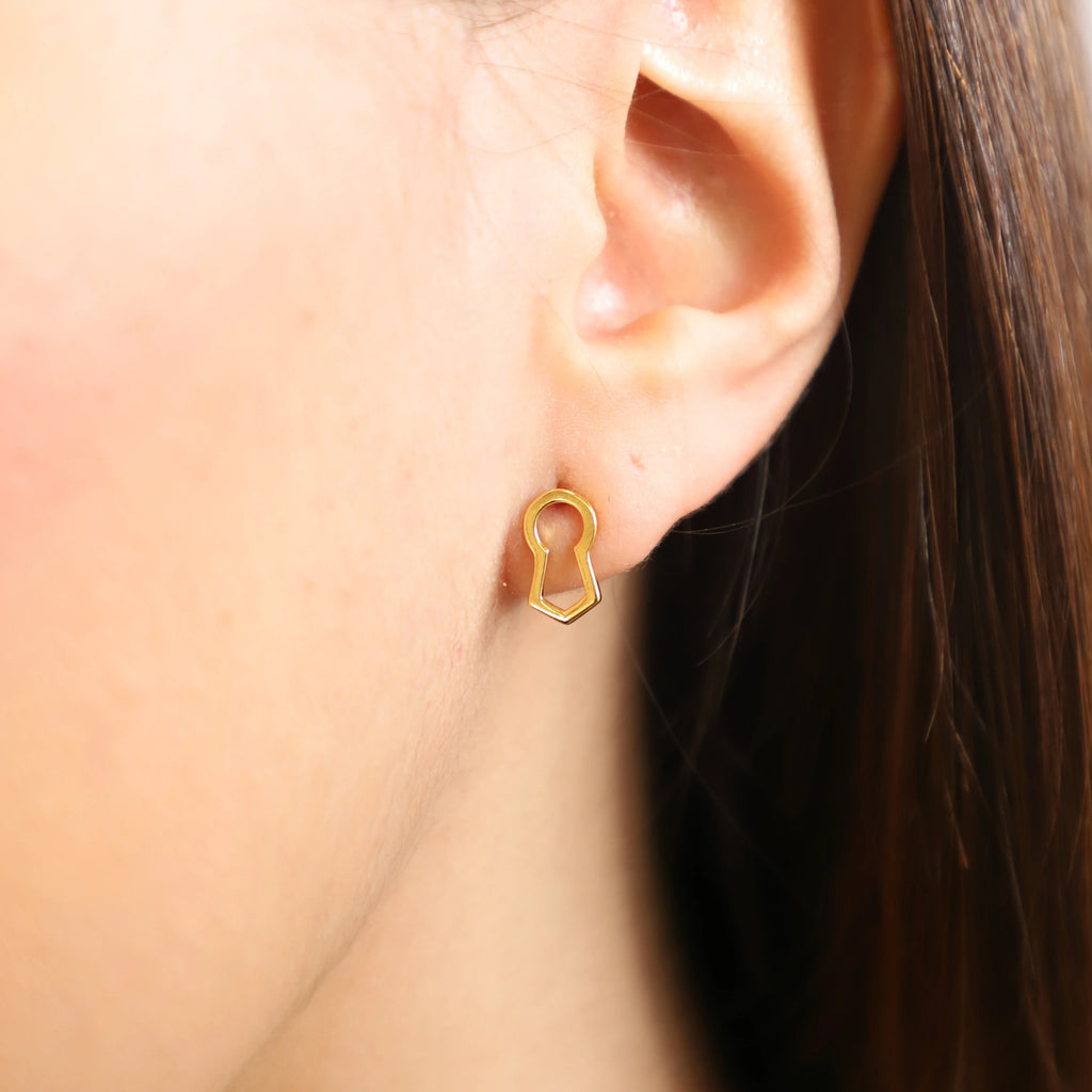 Keyhole Stud Earrings - Elias Serhan
