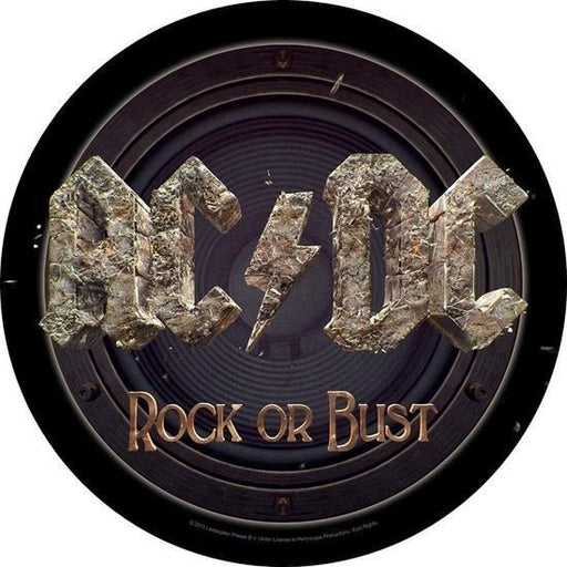 Back Patch - ACDC - Rock or Bust - Round-Metalomania
