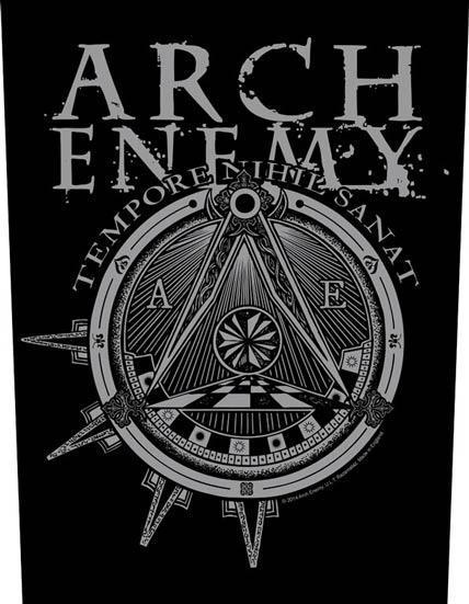 Back Patch - Arch Enemy - Illuminati-Metalomania