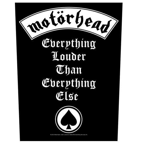 Back Patch - Motorhead - Everything Louder-Metalomania