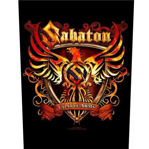 Back Patch - Sabaton - Coat of Arms-Metalomania
