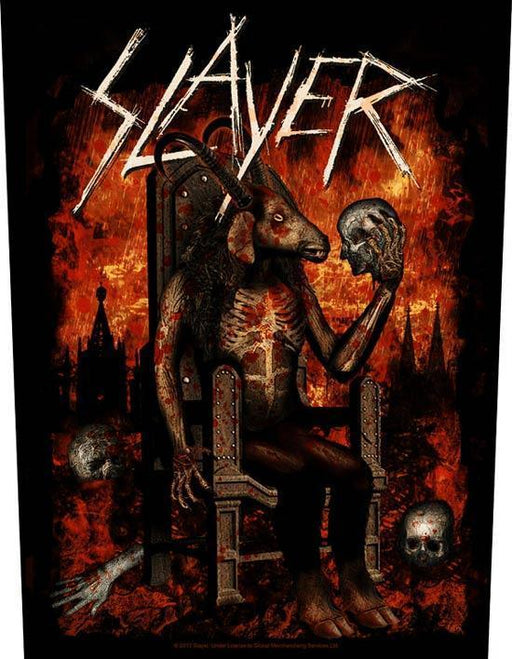 Back Patch - Slayer - Devil on Throne-Metalomania
