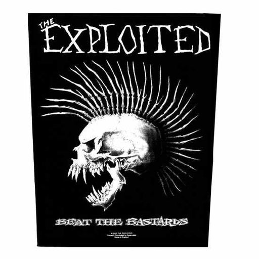 Back Patch - The Exploited - Beat the Bastards-Metalomania