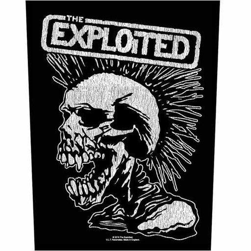 Back Patch - The Exploited - Vintage Skull