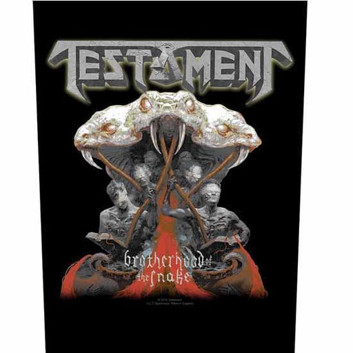 Back Patches - Testament - Brotherhood of the Snake-Metalomania