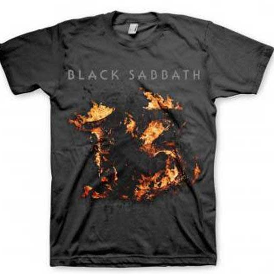 Black Sabbath - Flames 13 (T-Shirt)-Metalomania