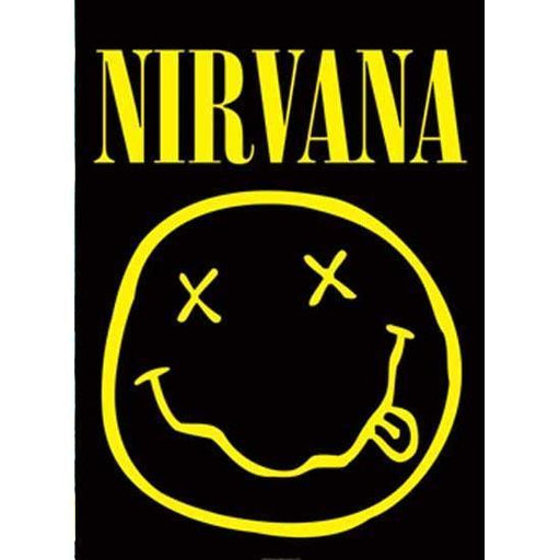 Flag - Nirvana - Kurt Cobain - Smiley Face-Metalomania