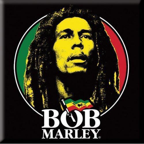 Fridge Magnet - Bob Marley - Logo Face