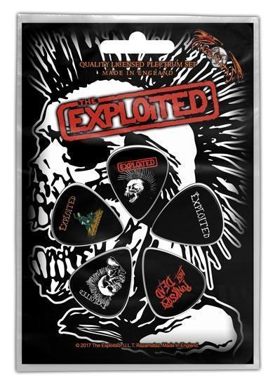 Guitar Picks - The Exploited - Skull-Metalomania