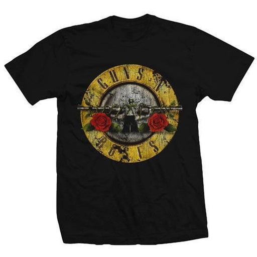 Guns N Roses - Distressed Bullet Logo (T-Shirt)