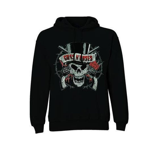 Guns N Roses Distressed Skull (Hoodies)-Metalomania