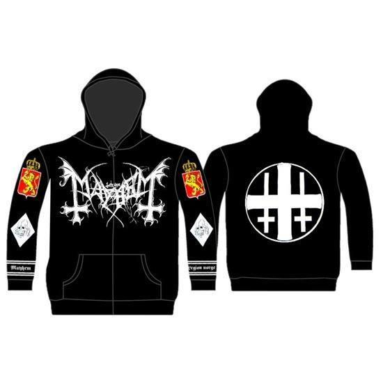Hoodie - Mayhem - Legion Norge - Zip-Metalomania