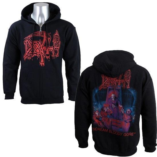 Hoodie - Death - Scream Bloody Gore (zip)-Metalomania