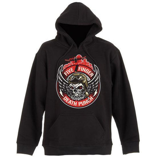 Hoodie - FFDP- Five Finger Death Punch - Bomber Patch - Pullover-Metalomania