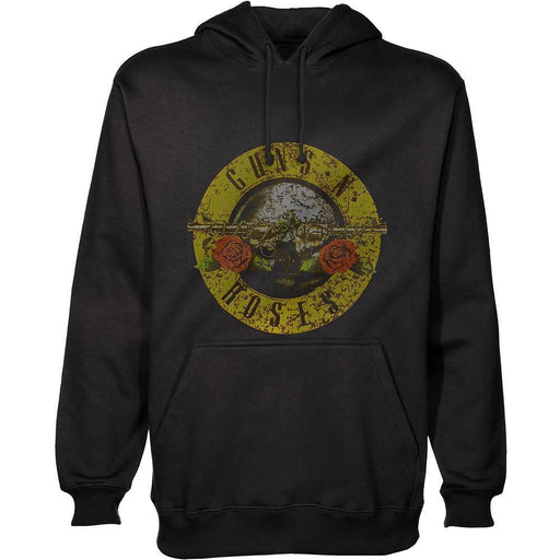 Hoodie - Guns N Roses - Distressed Logo - Pullover-Metalomania