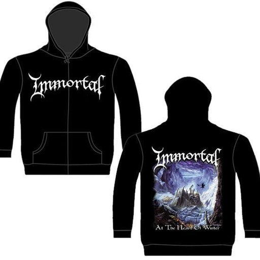 Hoodie - Immortal - At Heart of Winter - Zip-Metalomania