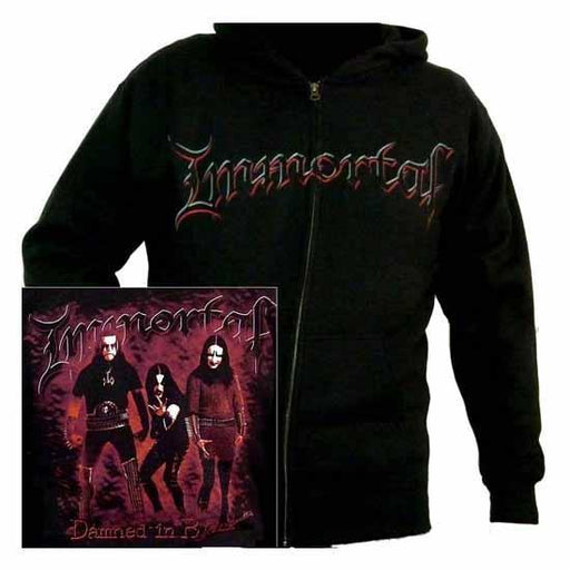 Hoodie - Immortal - Damned in Black (zip)-Metalomania