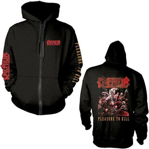 Hoodie - Kreator - Pleasure to Kill - Printed Sleeves - Zip-Metalomania