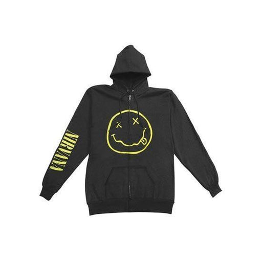 Hoodie - Nirvana / KC - Smiley (zip)