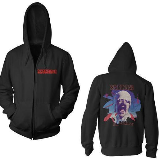 Hoodie - Scorpions - Black Out - Zip-Metalomania