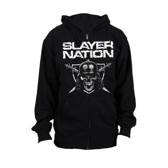 Hoodie - Slayer - Nation - Zip-Metalomania