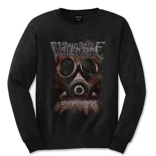Long Sleeve Shirt - Bullet For My Valentine - Temper Temper Gas Mask