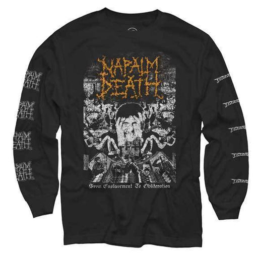 Long Sleeve Shirt - Napalm Death - From Enslavement to Obliteration