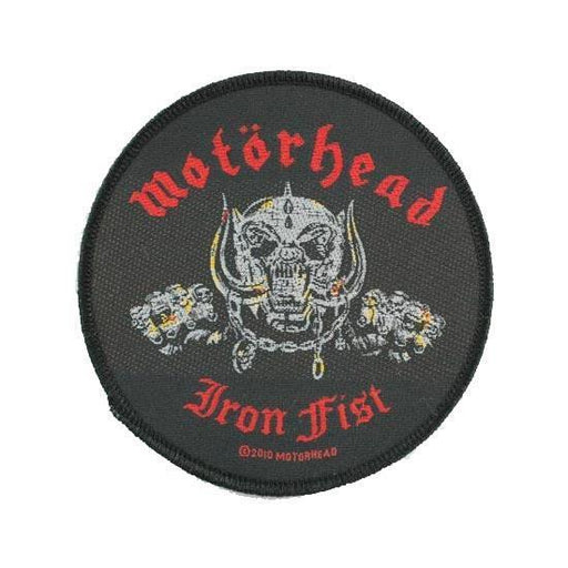 Patch - Motorhead - Iron Fist - (round)-Metalomania