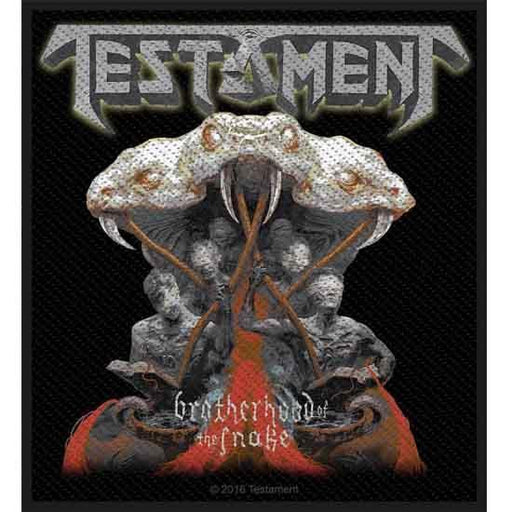 Patch - Testament - Brotherhood of the Snake-Metalomania