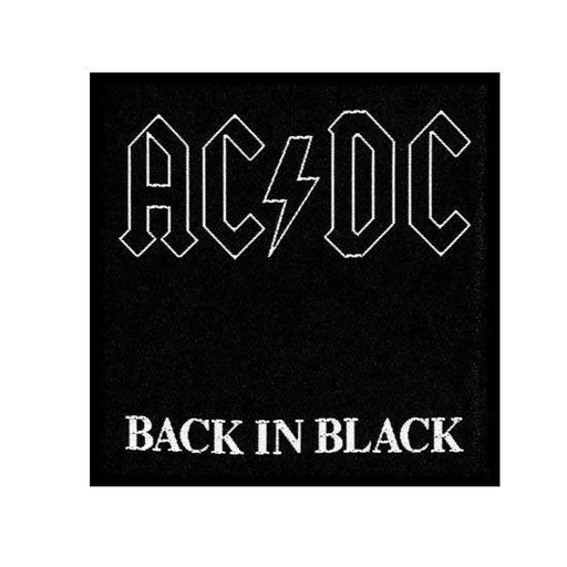 Patch - ACDC - Back in Black-Metalomania