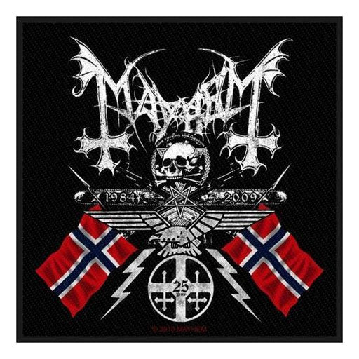 Patch - Mayhem - Coat of Arms (25 Years)-Metalomania