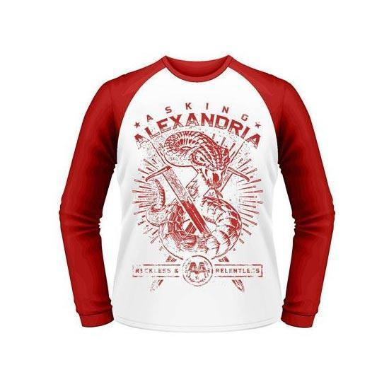 Raglan - Asking Alexandria - Snake (red & white)-Metalomania