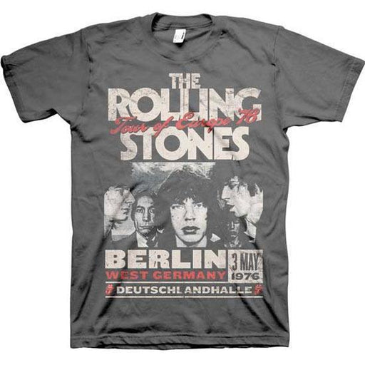 Rolling Stones - Europe 76 CHARCOAL (T-Shirts)