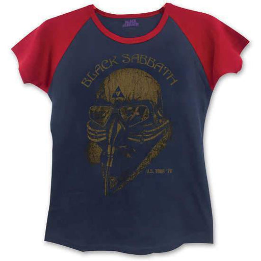 Short Sleeve Raglan - Black Sabbath - Tour 78 - Lady - Red & Navy
