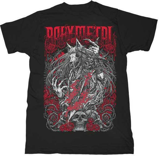 T-Shirt - Babymetal - Rose Wolf-Metalomania