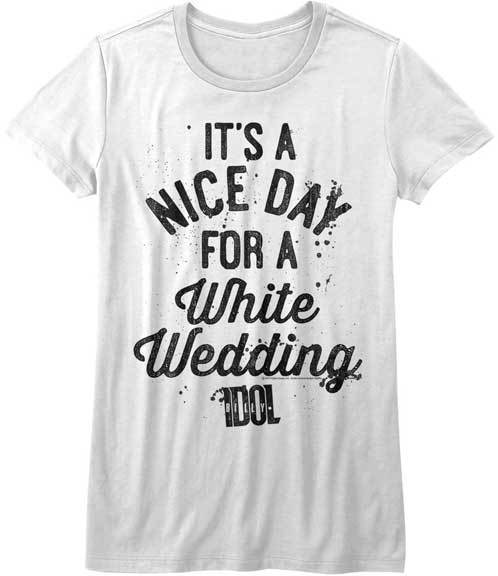 T-Shirt - Billy Idol - Nice Day - Lady - White